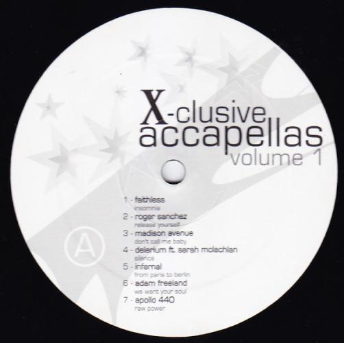 X-clusive Accapellas Volume 1