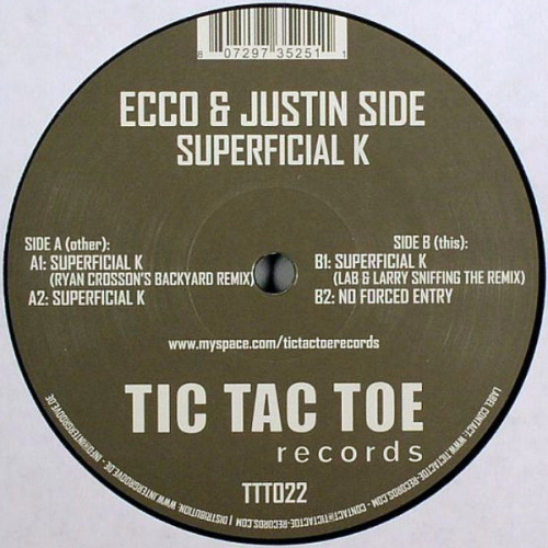 ECCO & JUSTIN SIDE - Superficial K - Maxi x 1