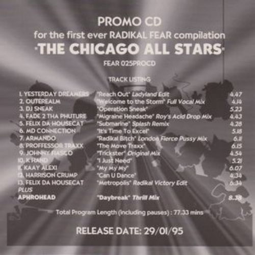 Radikal Fear - The Chicago All Stars (promo)