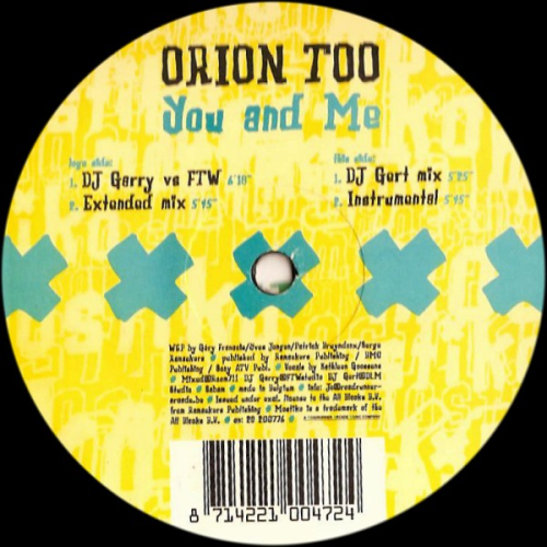 ORION TOO - You And Me - Maxi x 1