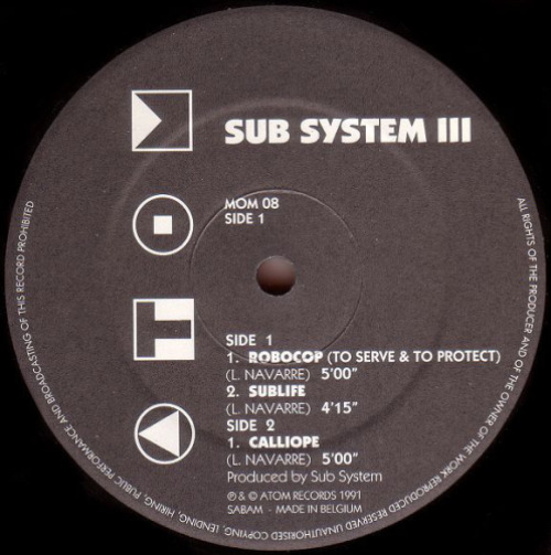 Sub System Iii (robocop) (2nd Hand)