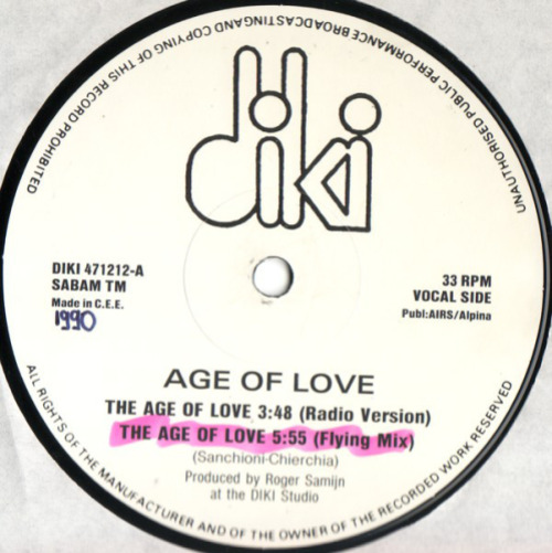 The Age Of Love (2nd Hand)