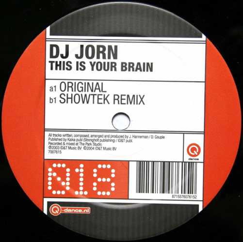 DJ JORN - This Is Your Brain - Maxi x 1