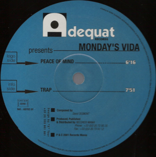 MONDAY'S VIDA - Peace Of Mind - Maxi x 1