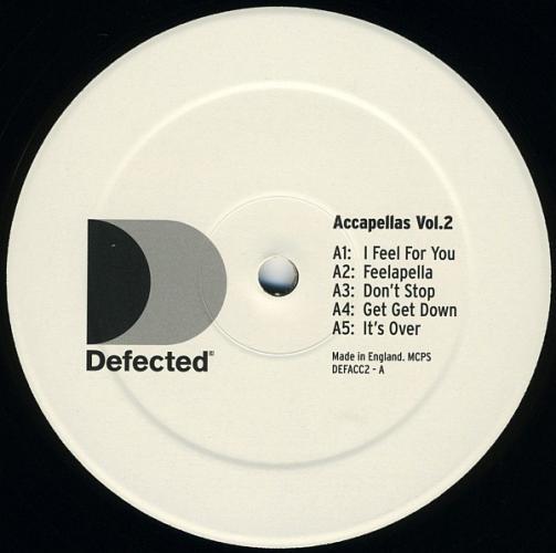 VARIOUS - Defected Accapellas Vol. 2 - Maxi x 1