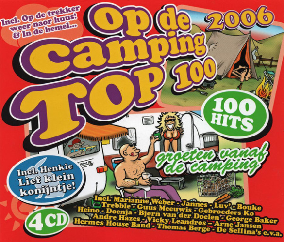 VARIOUS - Op De Camping Top 100 2006 - CD x 4