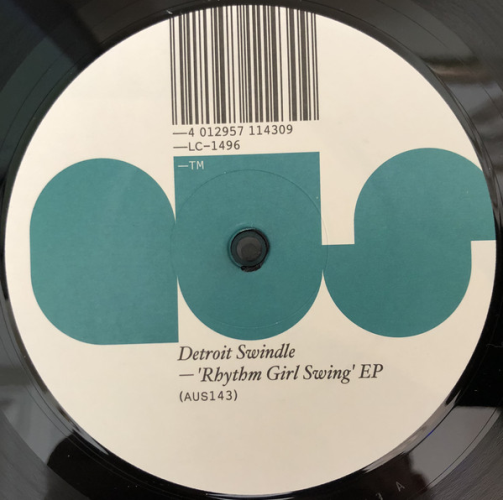 DETROIT SWINDLE - Rhythm Girl Swing Ep - Maxi x 1
