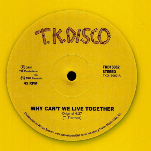 Why Can't We Live Together (yellow Vinyl)