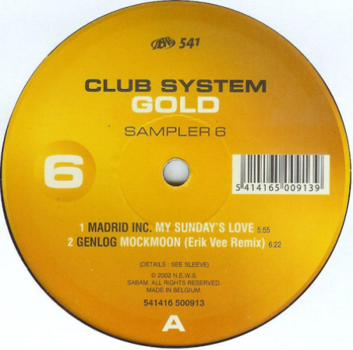 VARIOUS - Club System Gold Sampler 6 - Maxi x 1
