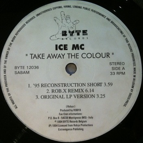 Take Away The Colour '95