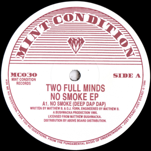 TWO FULL MINDS - No Smoke - Maxi x 1